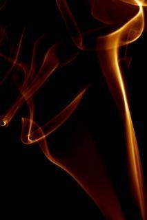La fumée d'encens vapeur zen