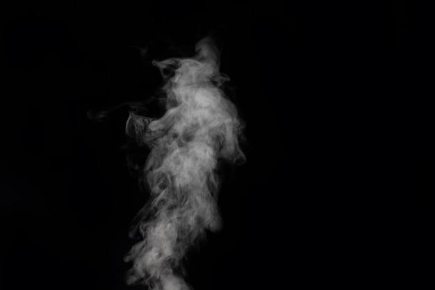 Fumée figurée sur fond sombre. abstrait, élément de conception