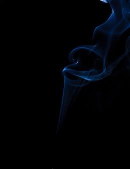 Fumée fond bleu noir