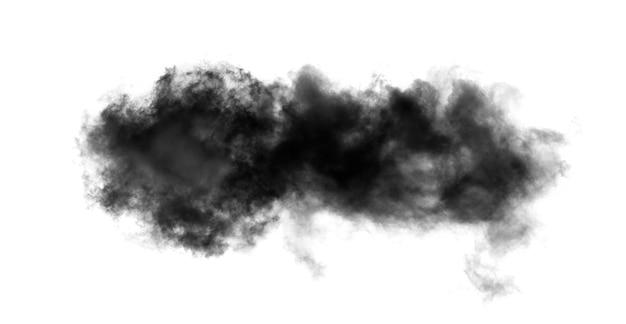 Fumée isolée sur blanc