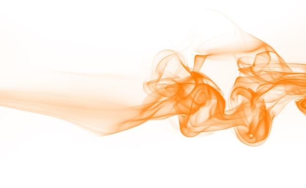 Fumée orange sur fond blanc