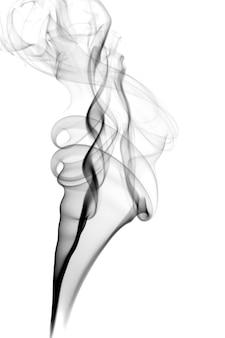 Fumée sombre isolée sur blanc