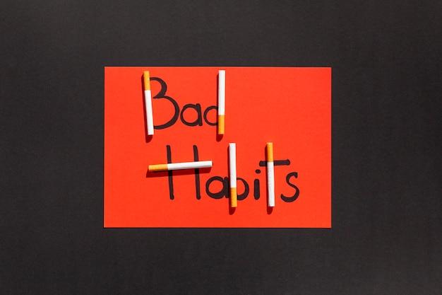 Fumer une mauvaise habitude