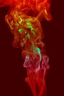 Fumer traînée de mouvement zen