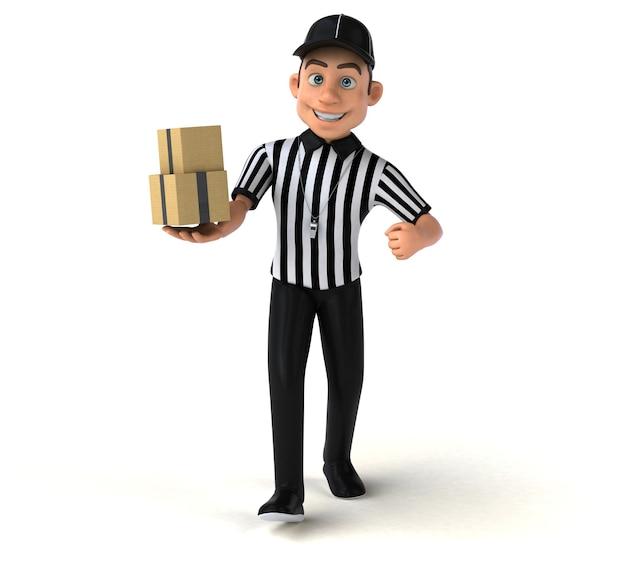 Fun 3d illustration d'un arbitre américain