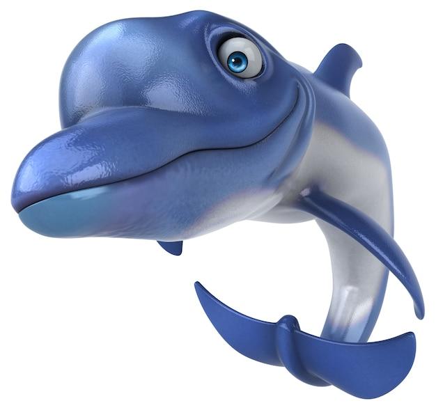 Fun dolphin - illustration 3d
