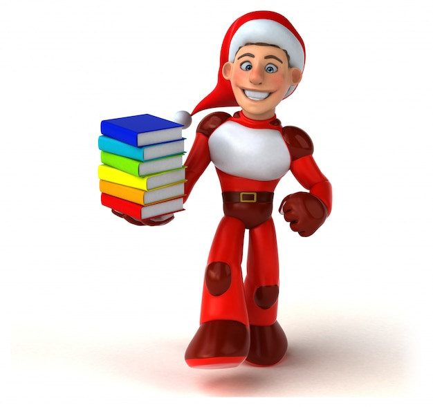 Fun super santa claus - illustration 3d
