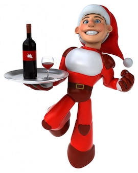 Fun super santa claus - personnage 3d