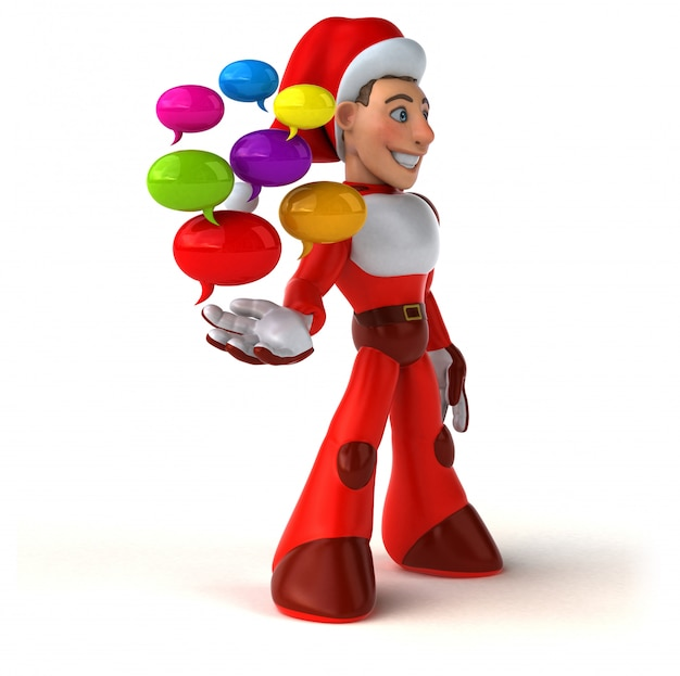 Fun super santa claus - personnage 3d