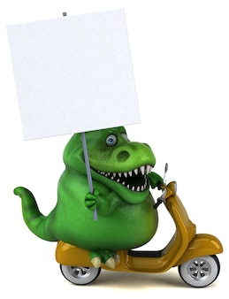 Fun trex - illustration 3d