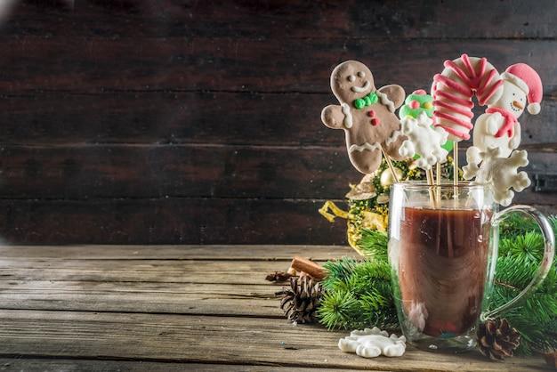 Funny cacao de noël à la guimauve