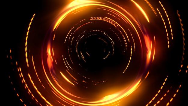 Les fusées éclairantes de prisme se superposent sur un arrière-plan flou noir