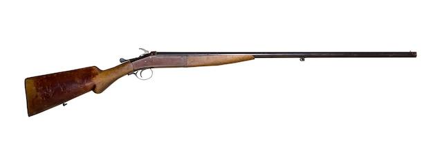 Fusil de chasse à canon unique vintage, isolé