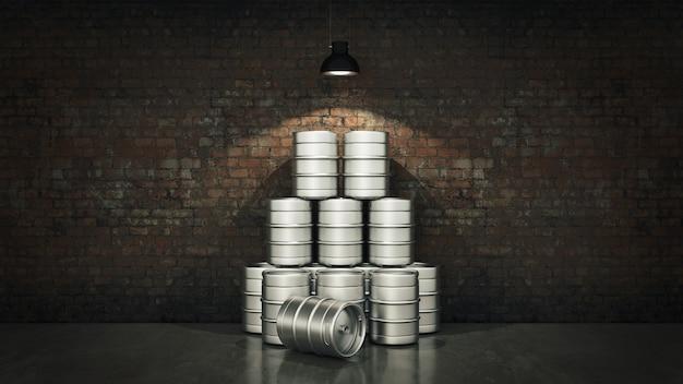 Fût de bière en métal