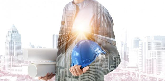 Futur projet d'ingénierie de construction de bâtiments.