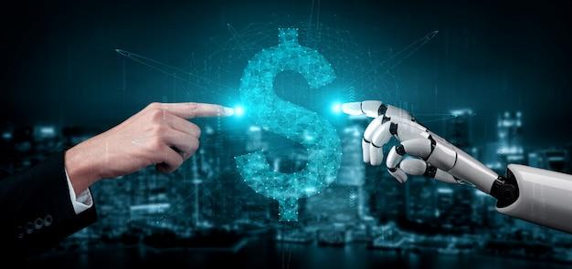Futur robot et cyborg d'intelligence artificielle.