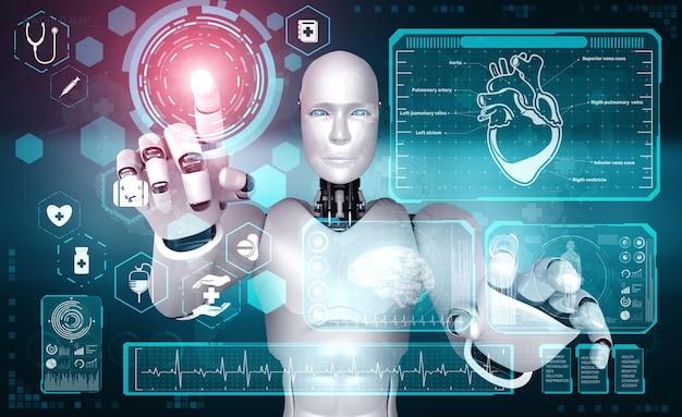 Future technologie médicale contrôlée par un robot ia utilisant l'apprentissage automatique