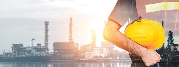 Future usine d'usine et concept d'industrie énergétique.