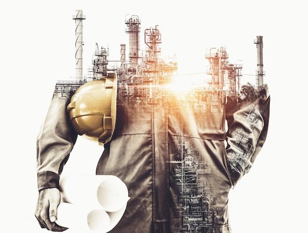 Future usine d'usine et concept de l'industrie de l'énergie.