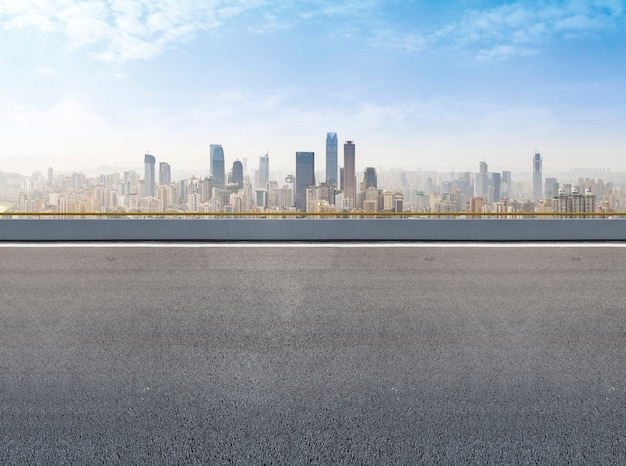 Futuriste urbain urbain surface extérieur financier