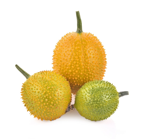 Gac fruit, baby jackfruit, spiny bitter gourd, sweet grourd ou cochinchin gourde