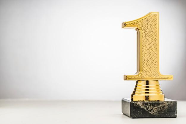 Gagnants 1ère place au trophée d'or avec espace de copie