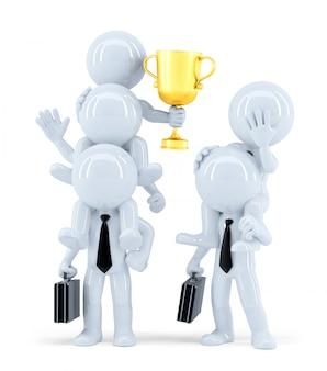 Gagnants et perdants. concept d'entreprise. isolé. contient un tracé de détourage