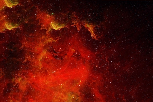 Galaxie aux couleurs rouges. les éléments de cette image ont été fournis par la nasa. photo de haute qualité