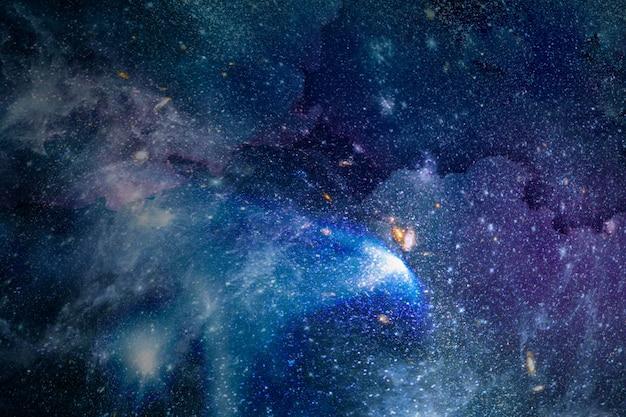 Galaxie dans l'espace fond texturé