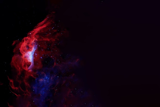 Galaxie rouge dans les éléments de l'espace lointain de cette image ont été fournis par la nasa