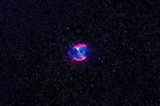 Galaxie spirale bleue dans l'espace lointain les éléments de cette image fournis par la nasa étaient. photo de haute qualité