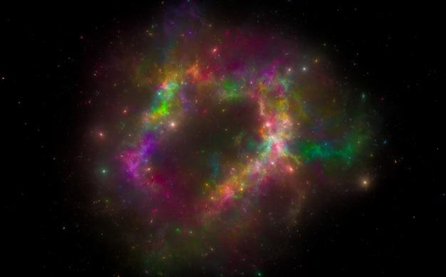 Galaxie spirale. contexte de l'espace extra-atmosphérique. fond de ciel étoilé.