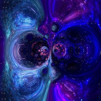 Galaxie un système de millions ou de milliards d'étoiles, avec du gaz et de la poussière,