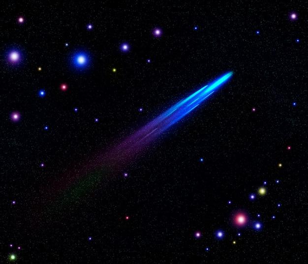 Galaxies, planètes, étoiles en espace ouvert