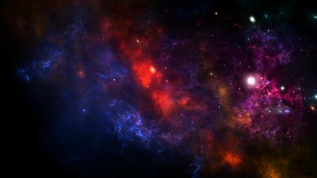 Galaxy un système de millions ou de milliards d'étoiles