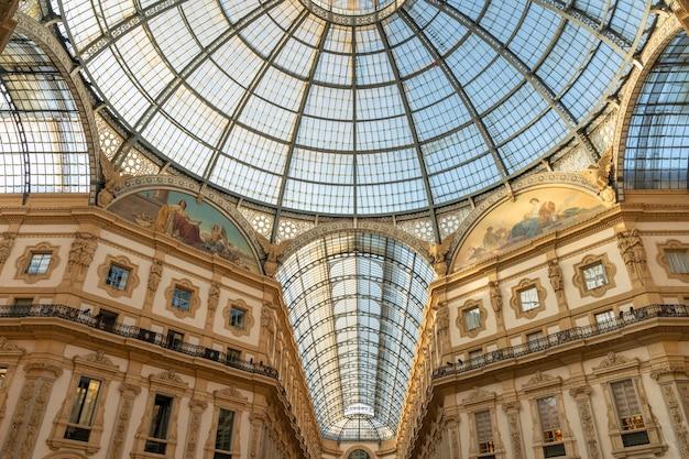 Galeries vittorio emanuele à milan, italie.