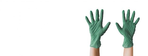 Gants chirurgicaux verts no fear gloves up