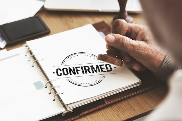 Garantie approuvé concept certifié autorisé