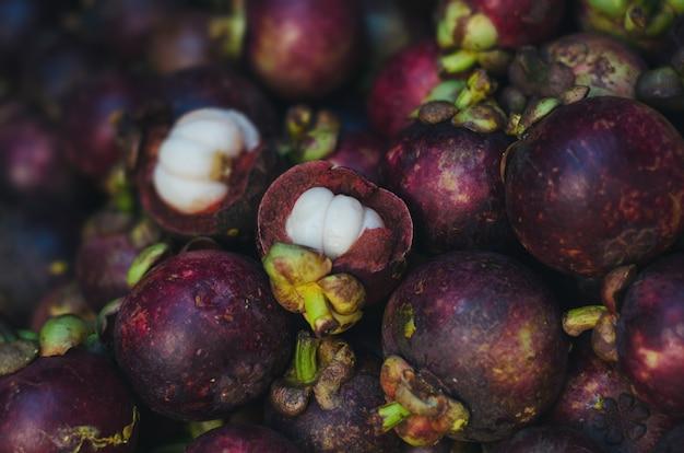 Garcinia mangostana mangoustan tropical fruit