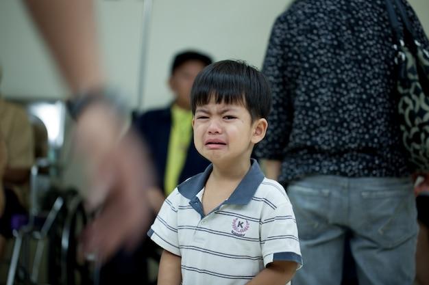 Garçon qui pleure
