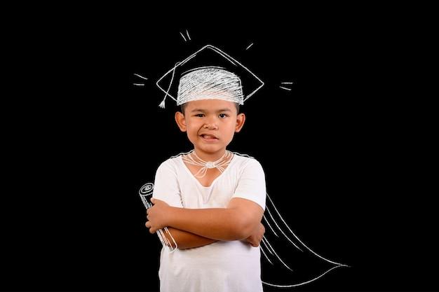 Le garçon représente le numéro 1 gagnant pour tout.