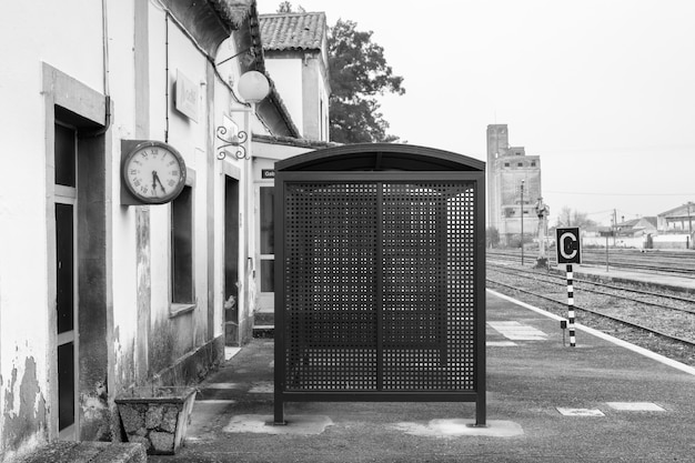 Gare abandonnée près de caceres. estrémadure. espagne.