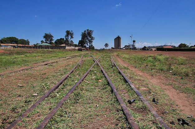 Gare dans la ville d'arusha, tanzanie