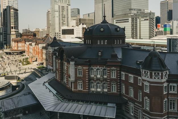 Gare de tokyo, une gare ferroviaire dans le quartier de marunouchi à tokyo, japon