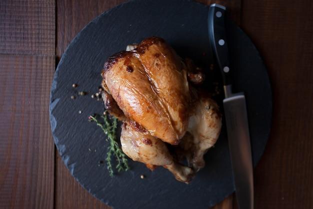 Gastronomie délicieuse cuisine gourmet au poulet