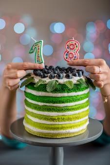 Gâteau d'anniversaire au mascarpone et aux raisins