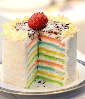 Gâteau arc-en-ciel se bouchent
