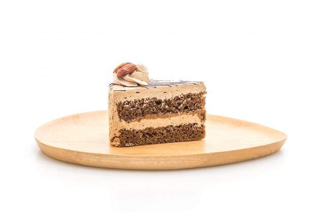 Gâteau au café isolé