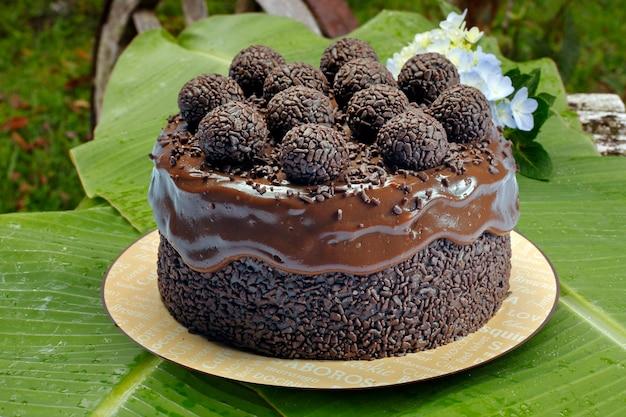 Gâteau au chocolat avec bonbon