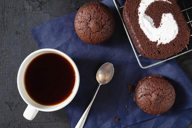 Gâteau au chocolat avec café